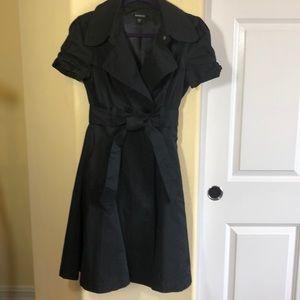 BEBE S Trench Coat Dress NWOT Satin Lining